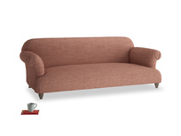 Large Soufflé Sofa in Dried Rose Clever Laundered Linen