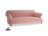 Large Soufflé Sofa in Vintage Pink Clever Velvet