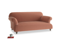 Medium Soufflé Sofa in Pinky Peanut Plush Velvet