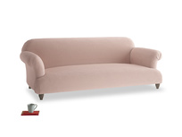 Large Soufflé Sofa in Dried Plaster Clever Velvet