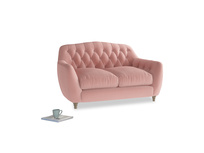 Small Butterbump Sofa in Vintage Pink Clever Velvet