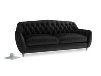 Large Butterbump Sofa in Blackboard Vintage Velvet