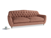 Large Butterbump Sofa in Dried Rose Clever Laundered Linen