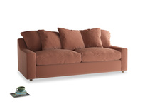 Large Cloud Sofa in Pinky Peanut Plush Velvet