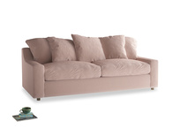 Large Cloud Sofa in Dried Plaster Clever Velvet