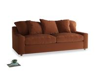 Large Cloud Sofa in Praline Plush Velvet
