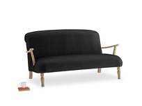 Medium Brew Sofa in Blackboard Vintage Velvet