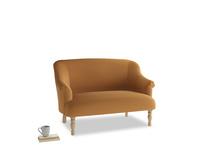 Small Sweetie Sofa in Caramel Plush Velvet