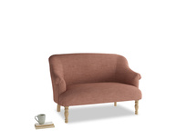 Small Sweetie Sofa in Dried Rose Clever Laundered Linen