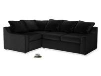 Large Left Hand Cloud Corner Sofa in Blackboard Vintage Velvet