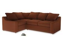 Large Left Hand Cloud Corner Sofa in Praline Plush Velvet