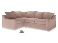 Large Left Hand Cloud Corner Sofa in Dried Plaster Clever Velvet