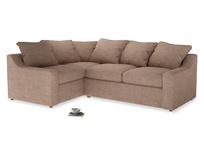 Large Left Hand Cloud Corner Sofa in Old Plaster Clever Laundered Linen