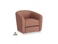 Tootsie Armchair in Dried Rose Clever Laundered Linen