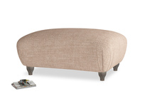 Rectangle Homebody Footstool in Old Plaster Clever Laundered Linen