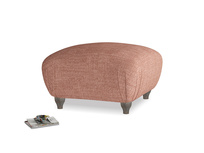 Small Square Homebody Footstool in Dried Rose Clever Laundered Linen