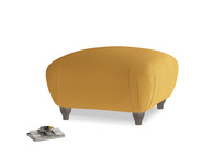 Small Square Homebody Footstool in Burnished Yellow Clever Velvet