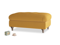 Rectangle Jammy Dodger Footstool in Burnished Yellow Clever Velvet