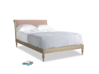 Double Darcy Bed in Dried Plaster Clever Velvet