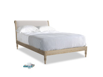 Double Darcy Bed in Winter White Clever Velvet