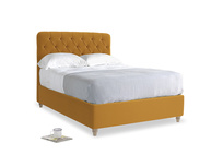 Double Billow Bed in Burnished Yellow Clever Velvet