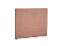 Double Piper Headboard in Dried Rose Clever Laundered Linen