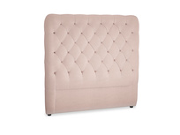 Double Tall Billow Headboard in Dried Plaster Clever Velvet
