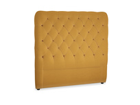 Double Tall Billow Headboard in Burnished Yellow Clever Velvet