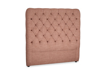 Double Tall Billow Headboard in Dried Rose Clever Laundered Linen