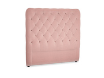 Double Tall Billow Headboard in Vintage Pink Clever Velvet