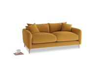 Small Squishmeister Sofa in Burnished Yellow Clever Velvet