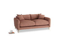 Small Squishmeister Sofa in Dried Rose Clever Laundered Linen