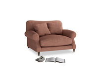 Crumpet Love seat in Dried Rose Clever Laundered Linen