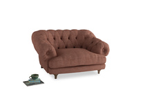 Bagsie Love Seat in Dried Rose Clever Laundered Linen