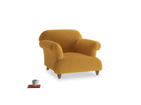 Soufflé Armchair in Burnished Yellow Clever Velvet