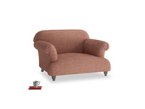 Soufflé Love seat in Dried Rose Clever Laundered Linen