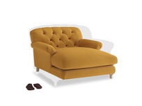Truffle Love seat in Burnished Yellow Clever Velvet