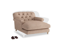 Truffle Love seat in Old Plaster Clever Laundered Linen