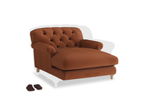 Truffle Love seat in Praline Plush Velvet