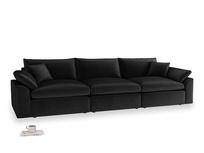 Large Cuddlemuffin Modular sofa in Blackboard Vintage Velvet