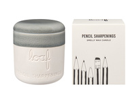 Pencil Sharpenings natural wax scented candle