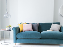 Pipelet fabric coloured cushions