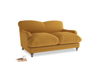 Small Pudding Sofa in Burnished Yellow Clever Velvet