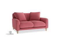 Small Bear Hug Sofa in Raspberry brushed cotton