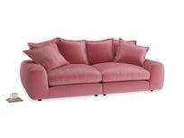 Medium Wodge Modular Sofa in Blushed pink vintage velvet