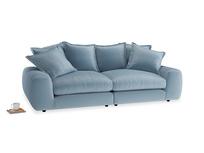 Medium Wodge Modular Sofa in Chalky blue vintage velvet