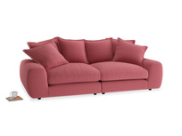 Medium Wodge Modular Sofa in Raspberry brushed cotton