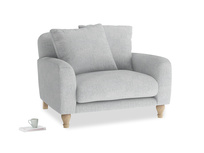 Bear Hug Love Seat in Pebble vintage linen