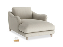 Bumpster Love Seat Chaise in Thatch house fabric