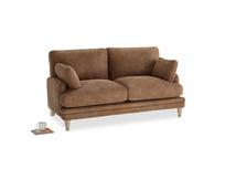 Small Squisharoo Sofa in Walnut beaten leather